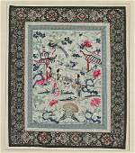 Two Old Chinese Silk Embroideries