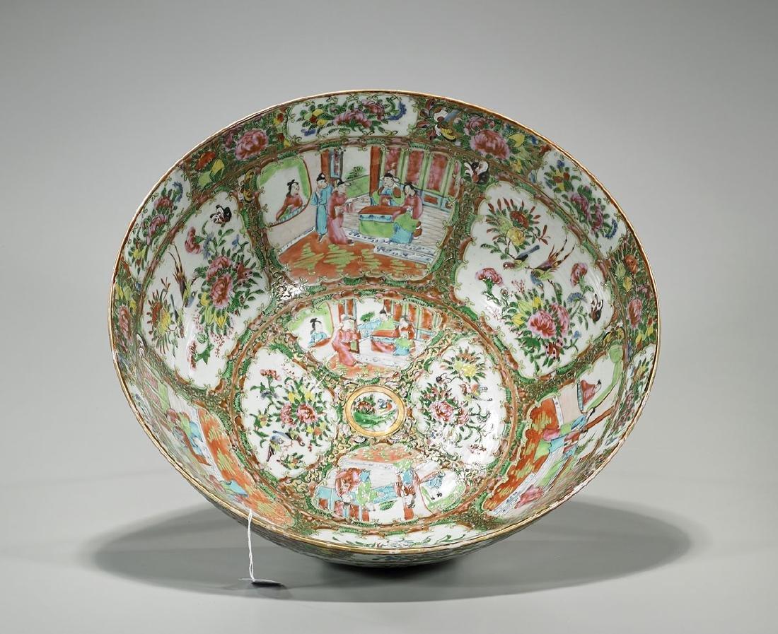 Antique Chinese Rose Medallion Porcelain Bowl