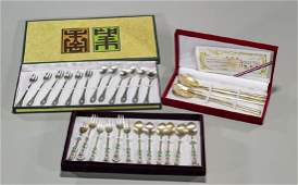 Collection of Korean Silver Flatware