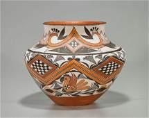Native American Painted Pottery Jar By Shyatesa White
