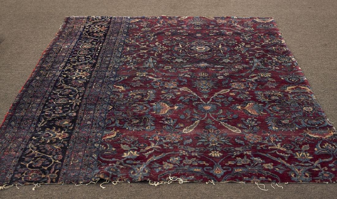 Persian Kerman Wool Rug Section