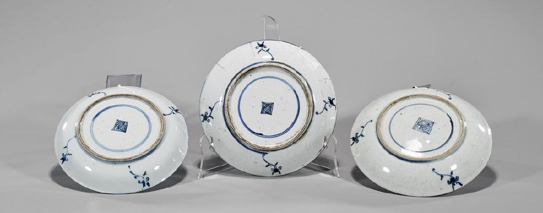 Three Antique Chinese Blue & White Porcelain Dishes - 2