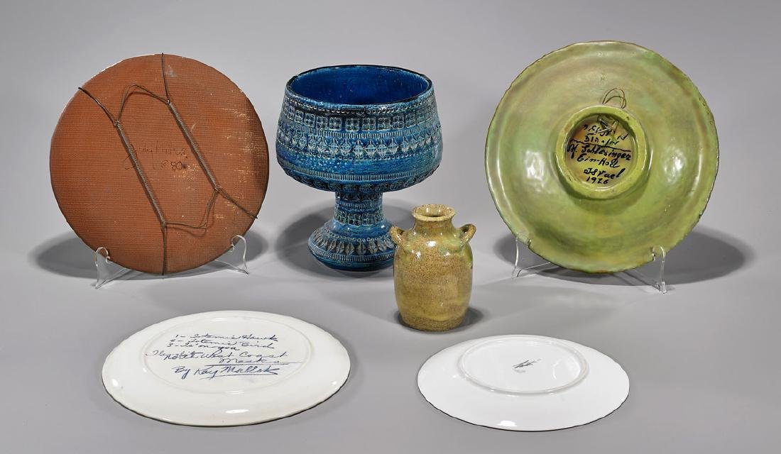 Group of Six Various Decorative Plates & Vessels - 2