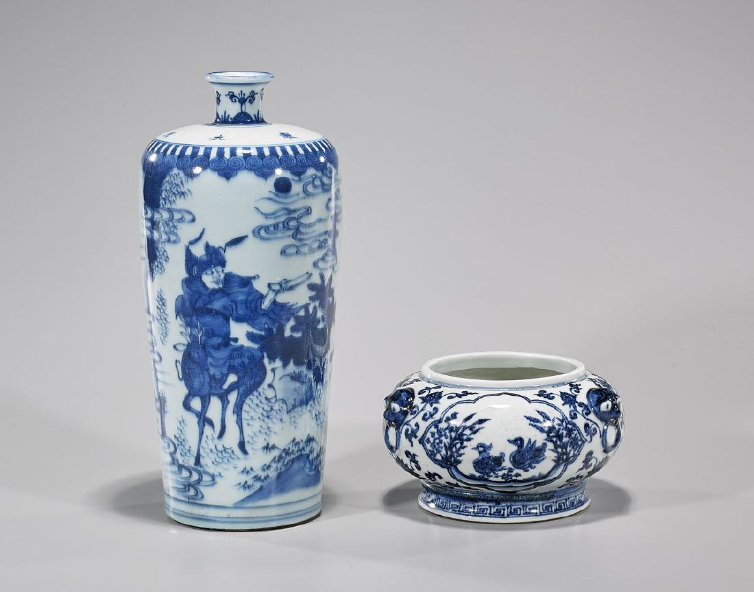 Two Chinese Blue & White Porcelains