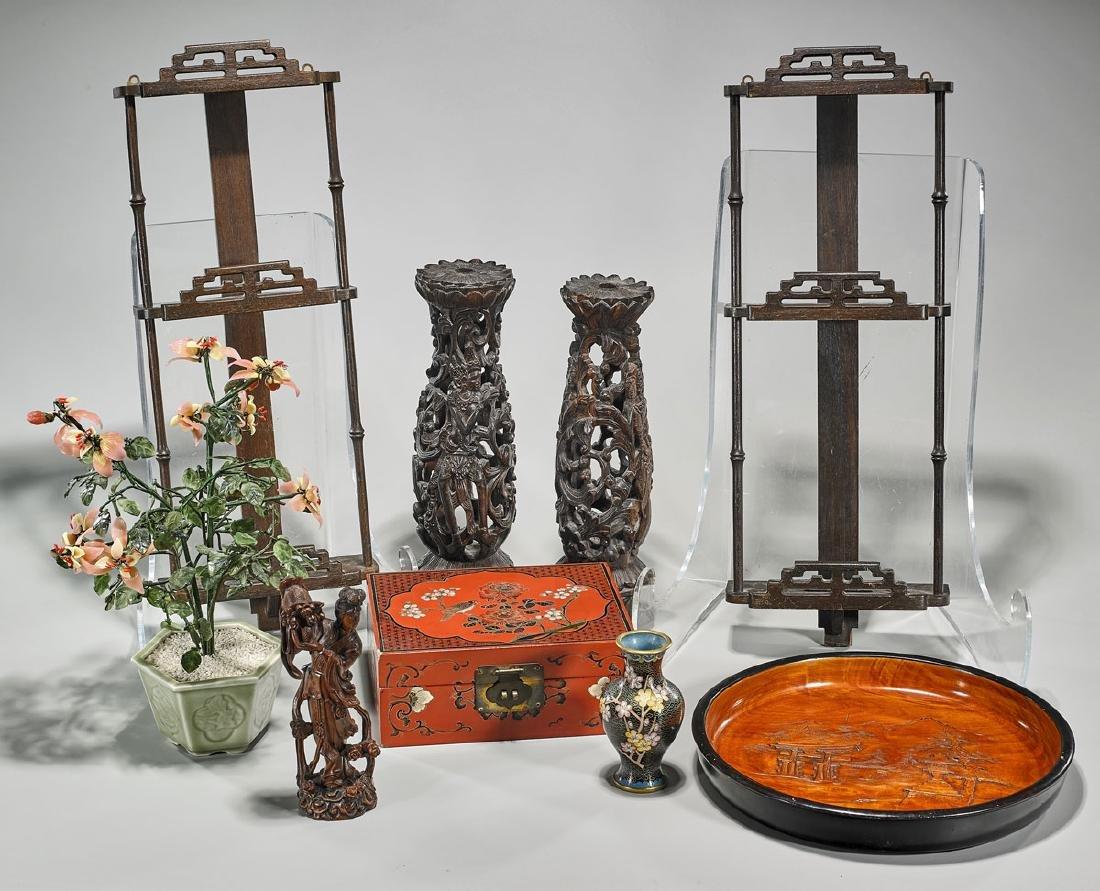 Group of Nine Various Asian Pieces