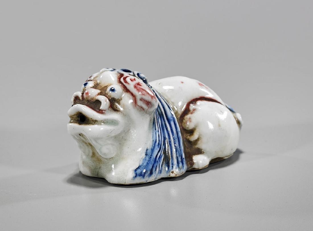 Korean Glazed Porcelain Animal-Form Waterdropper