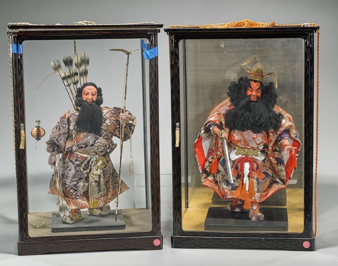 Two Large & Elaborate Japanese Samurai Dolls