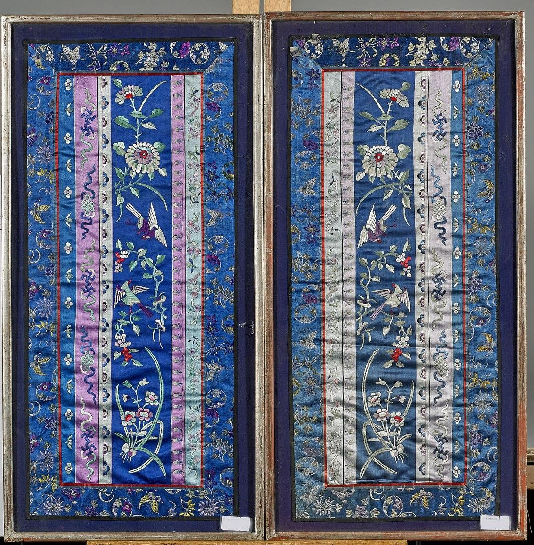 Two Antique Chinese Embroideries