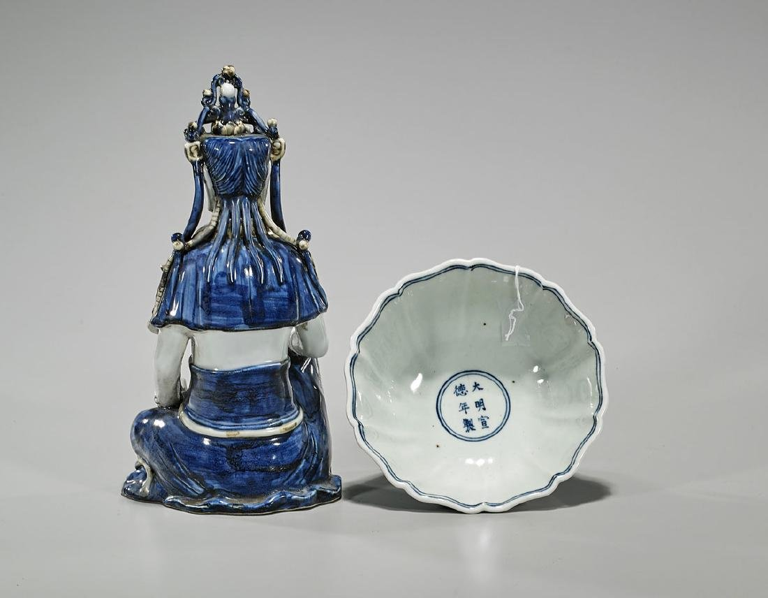 Two Chinese Ming-Style Blue & White Porcelains - 2