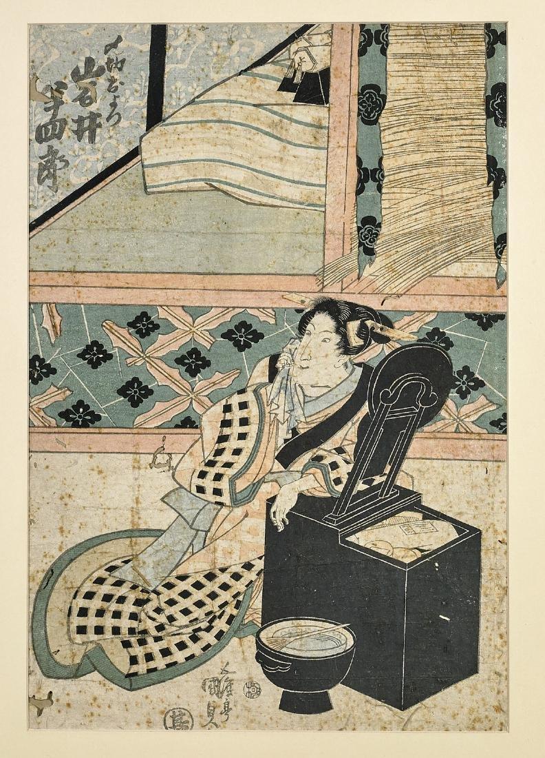 Three Antique Japanese Woodblock Prints