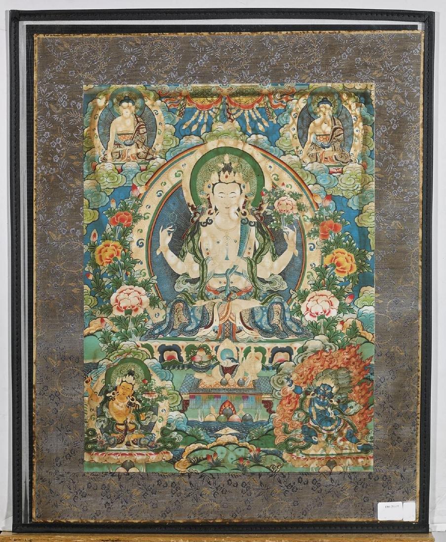 Two Tibeto-Chinese Painted Thangkas - 2