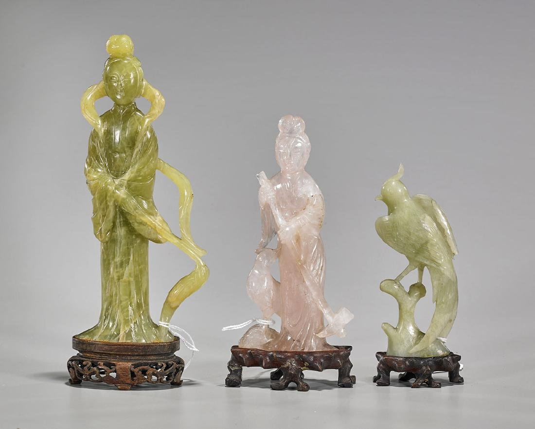 Three Old Chinese Carvings