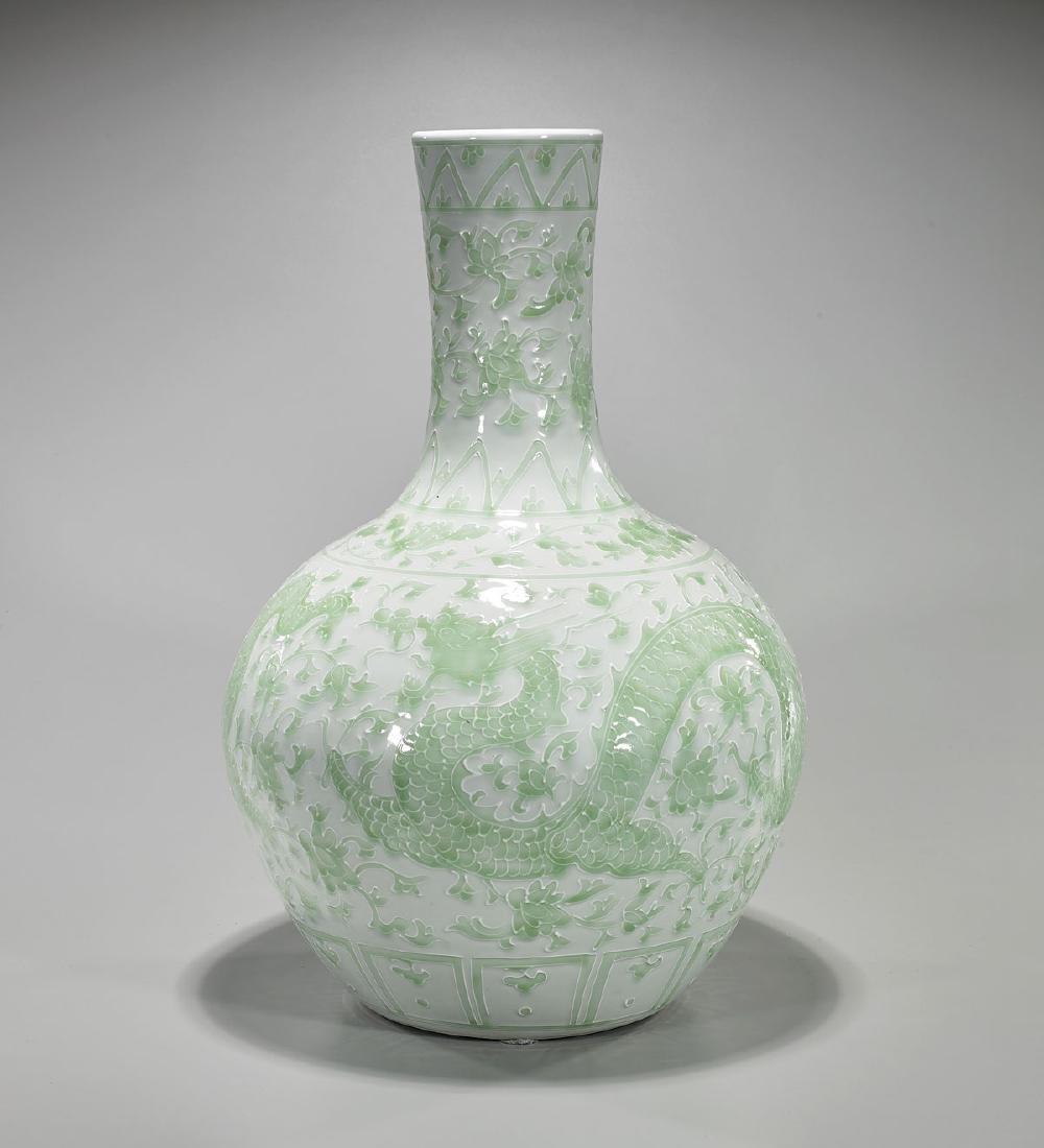 Large Chinese Enameled Porcelain Bottle Vase