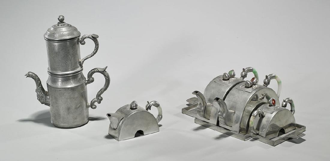 Group of Six Chinese Metalwork Pieces