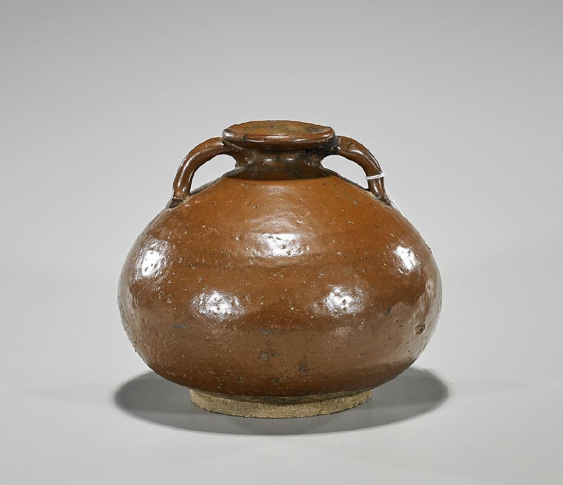 Chinese Song Dynasty Glazed Pottery Vase
