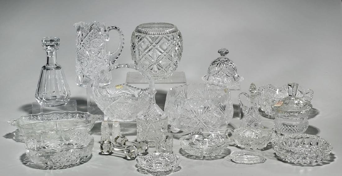 Large Collection of Cut Glass Pieces