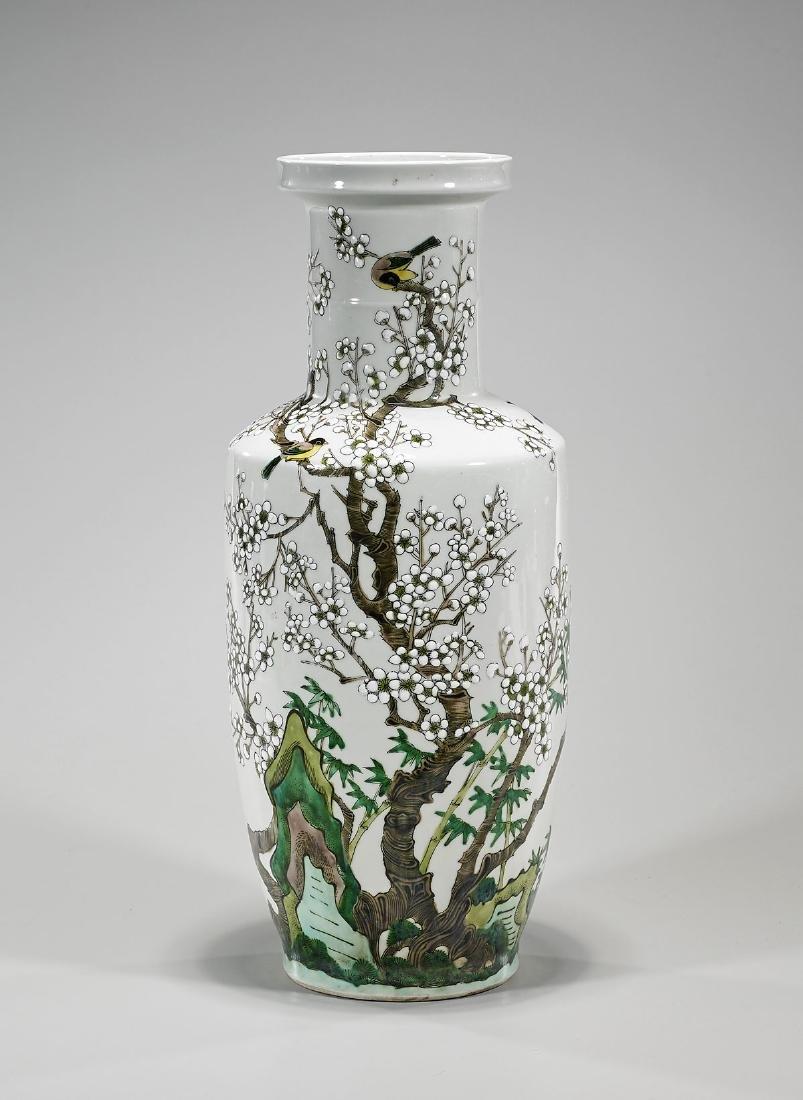 Chinese Kangxi-Style Famille Verte Porcelain Vase