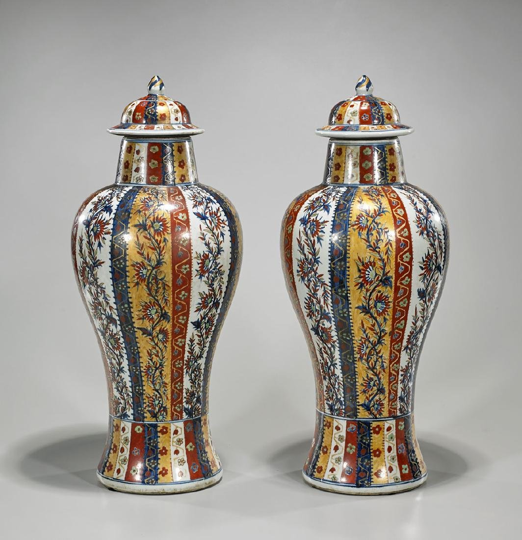 Two Antique Chinese Export Porcelain Vases