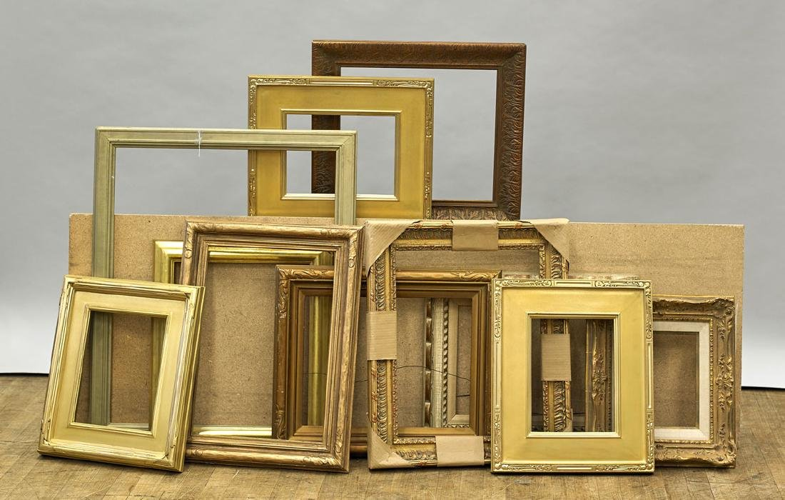 Group of Eleven Various Wood Frames