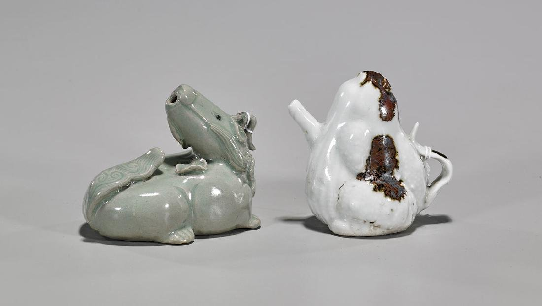 Two Korean Glazed Waterdroppers