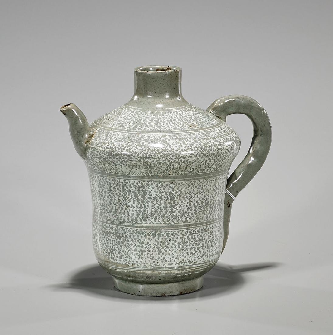 Antique Joseon Dynasty Buncheong Ewer