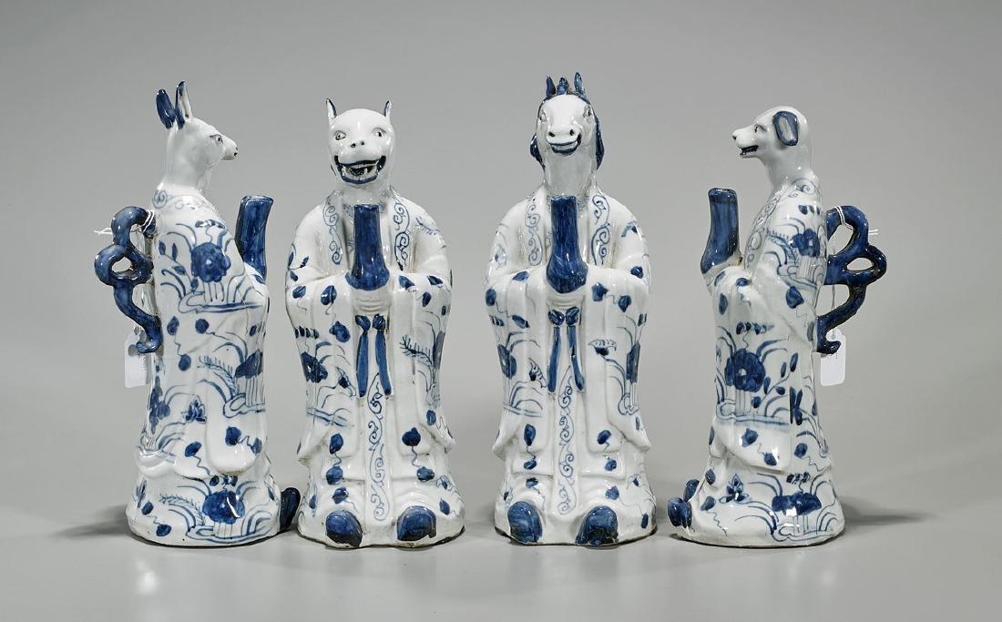 Four Antique Chinoiserie Blue & White Porcelain - 2