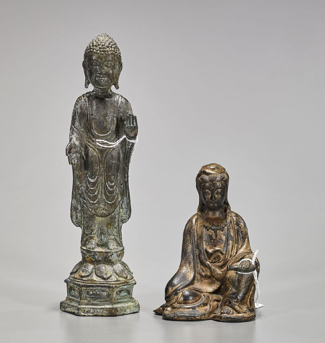 Two Asian Bronze Figures