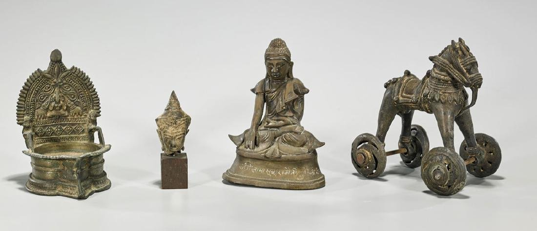 Group of Four Antique South & Southeast Asian Bronzes