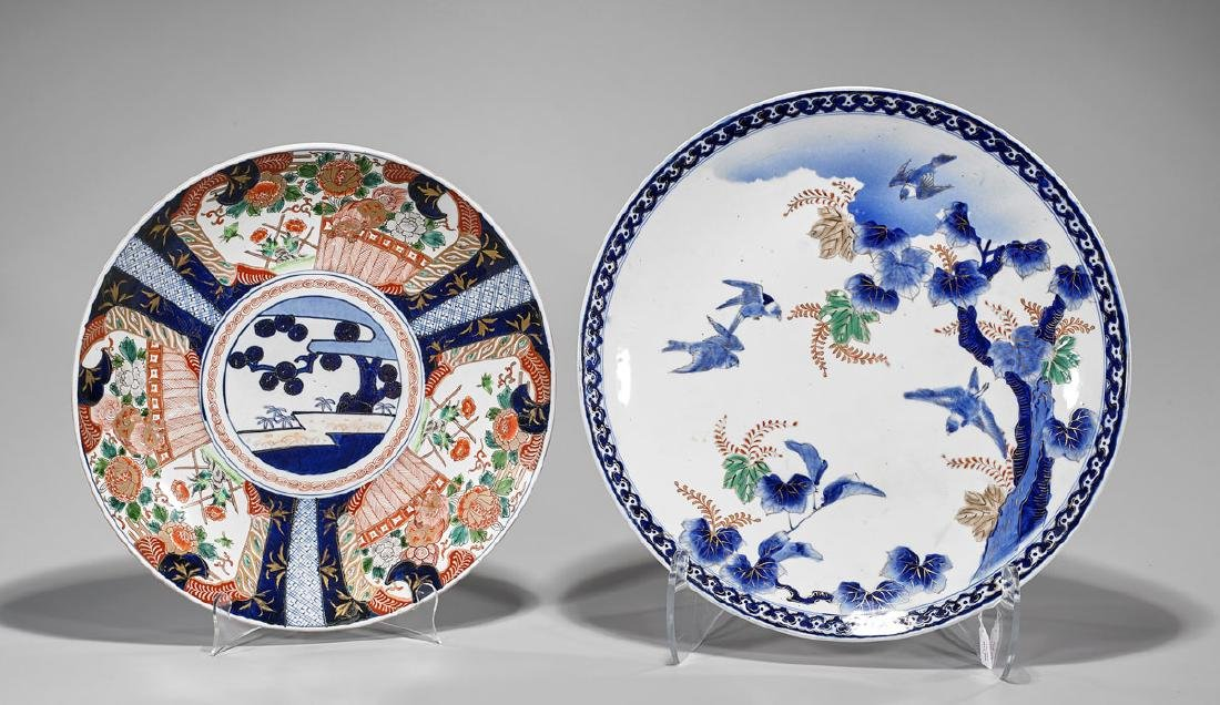 Two Japanese Porcelain Chargers