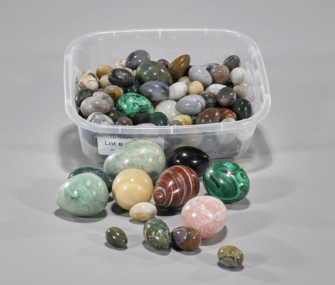 Large Collection of Mineral Eggs
