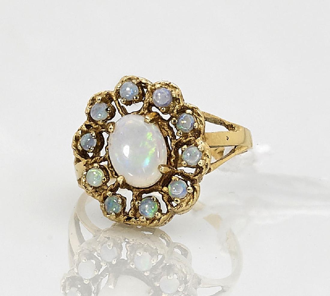 14K Yellow Gold & Opal Ring