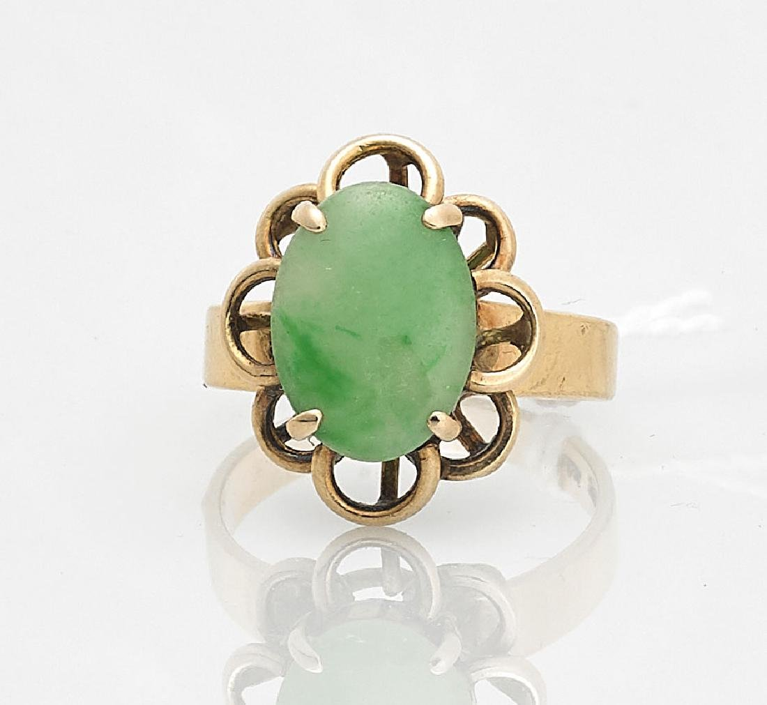 14K Yellow Gold & Jadeite Ring