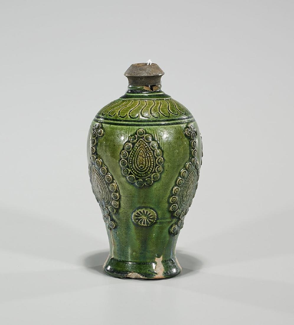 Chinese Tang Dynasty Green Glazed Vase