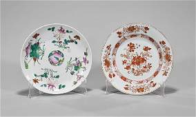 Two Antique Chinese Export Porcelain Plates