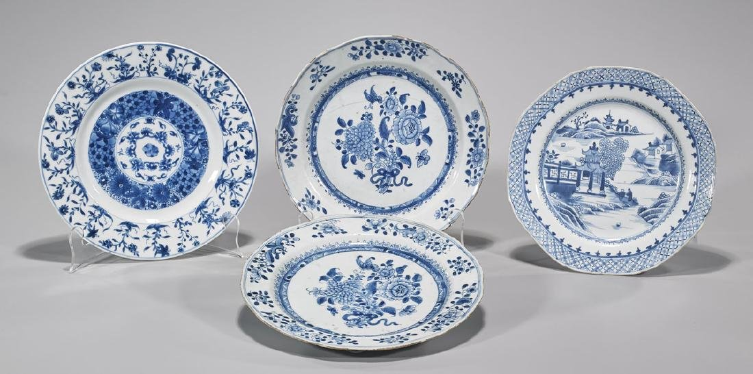 Group of Four Antique Chinese Export Porcelain Plates
