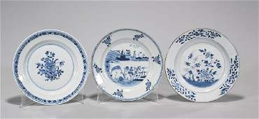 Group of Three Antique Chinese Export Porcelain Plates