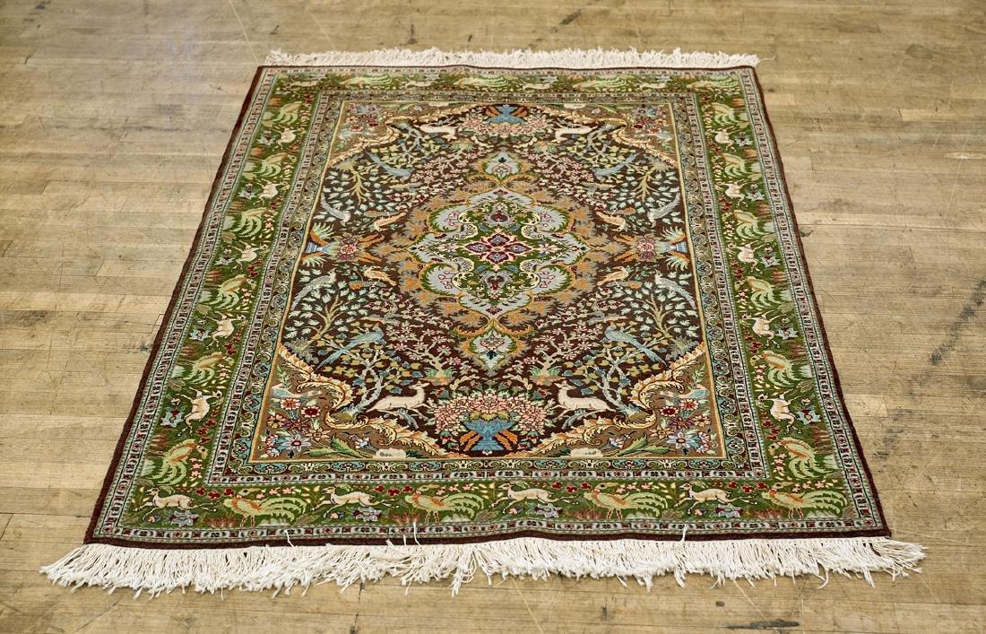 Persian Tabriz Wool & Silk Rug