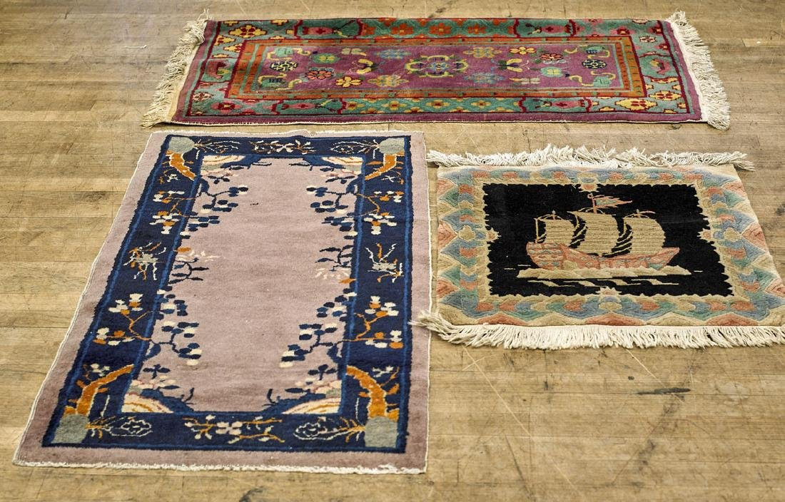 Group of Three Chinese Rugs