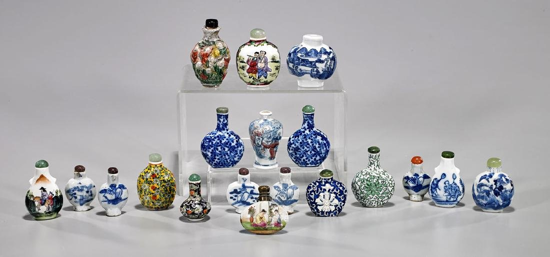 Collection of Nineteen Chinese Porcelain Snuff Bottles