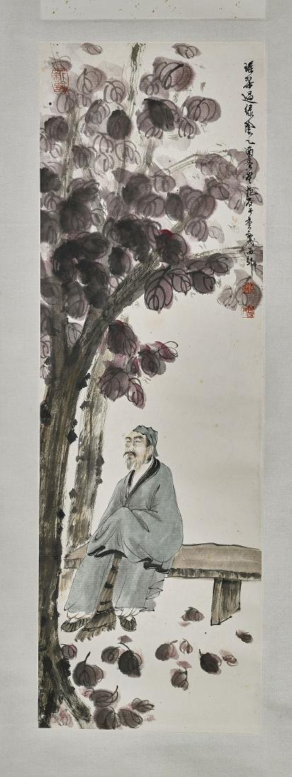 Chinese Scroll Painting After Fu Baoshi