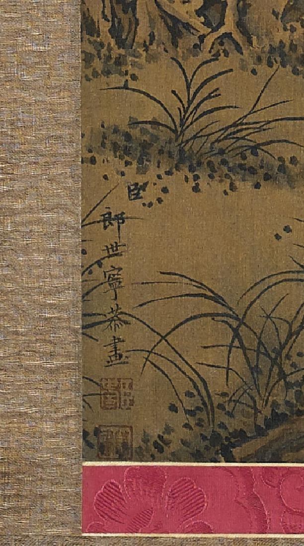 Chinese Silk Scroll After Giuseppe Castiglione - 2