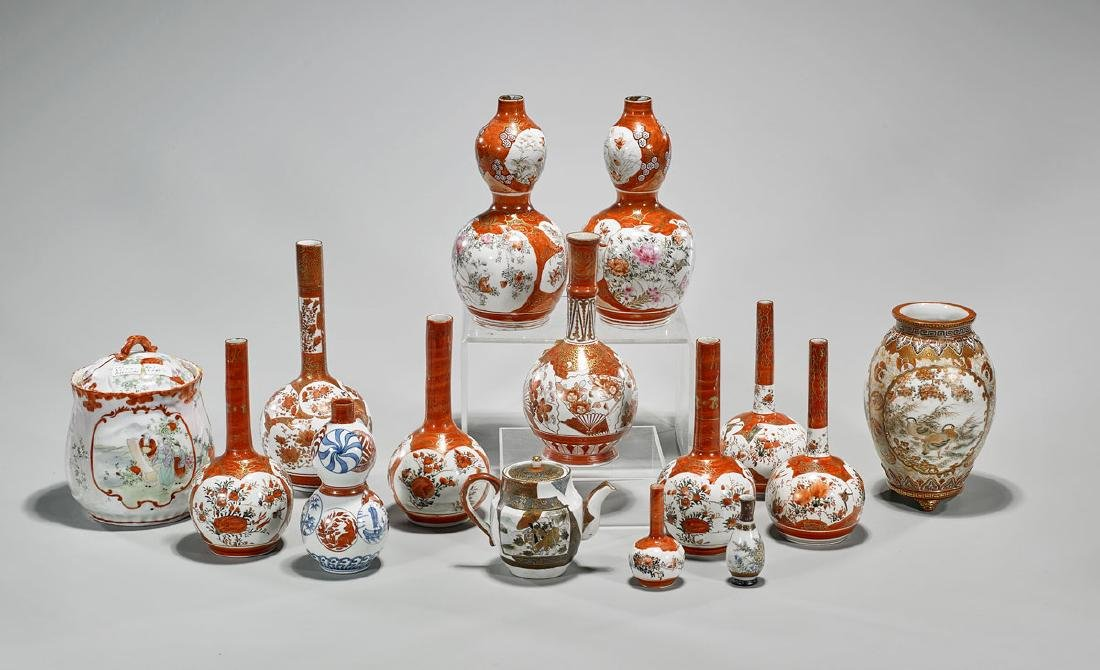 Collection of Fifteen Japanese Kutani Porcelains