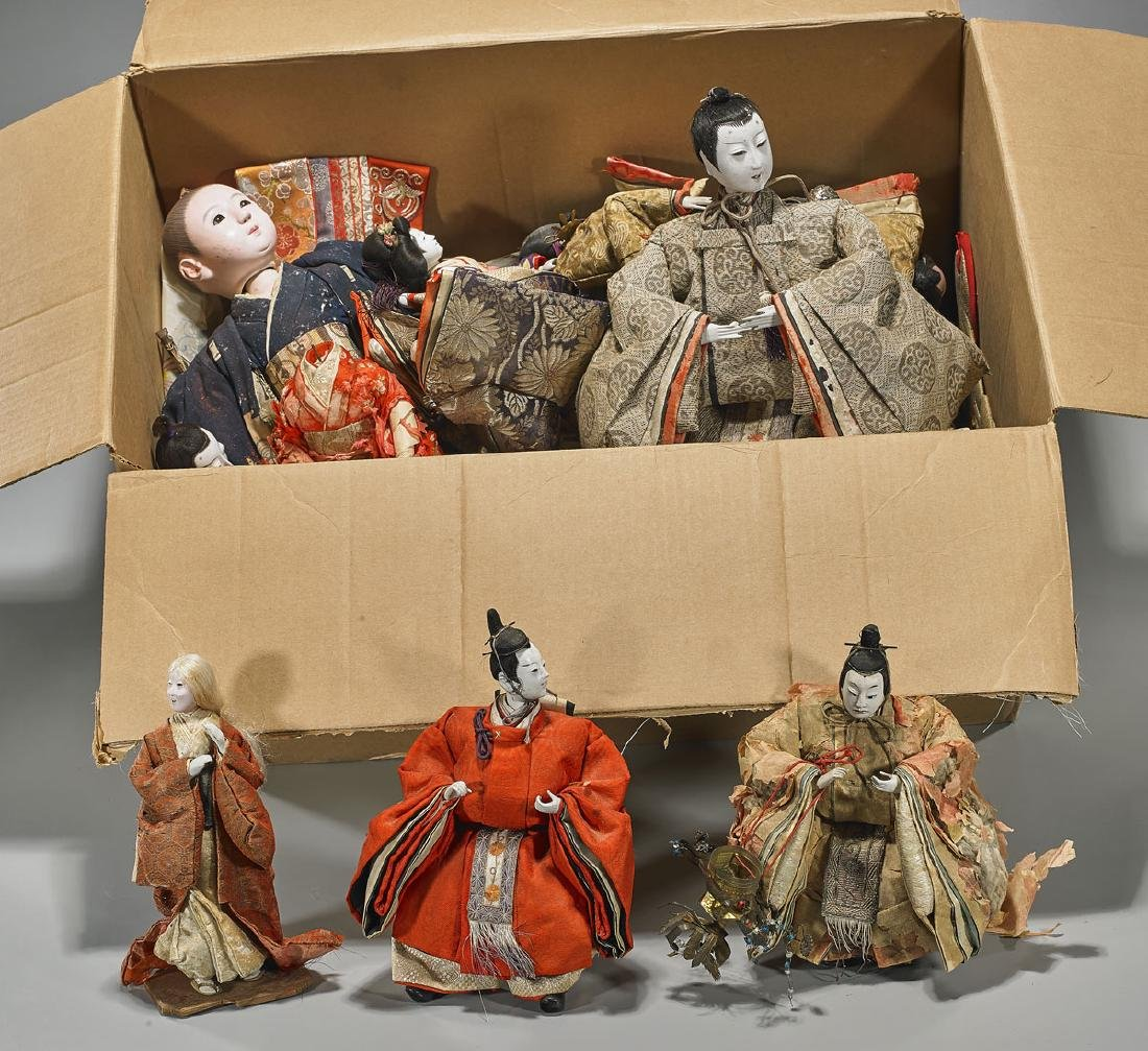 Large Collection of Japanese Dolls