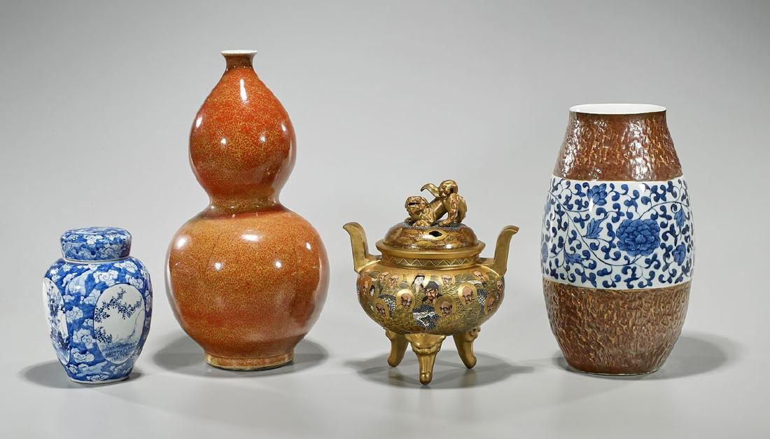 Group of Four Chinese & Japanese Ceramics