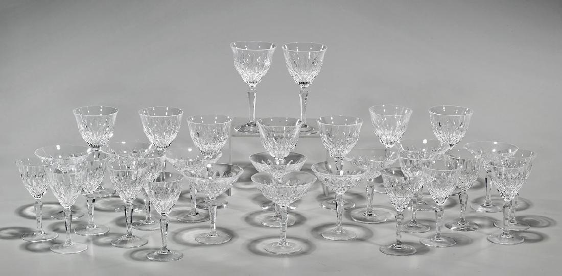 Large Set of Crystal Stemware