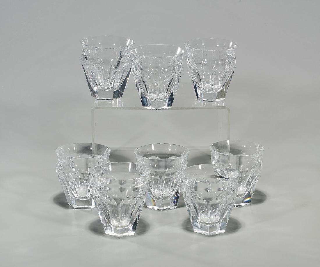 Set of Eight Baccarat Crystal Glasses