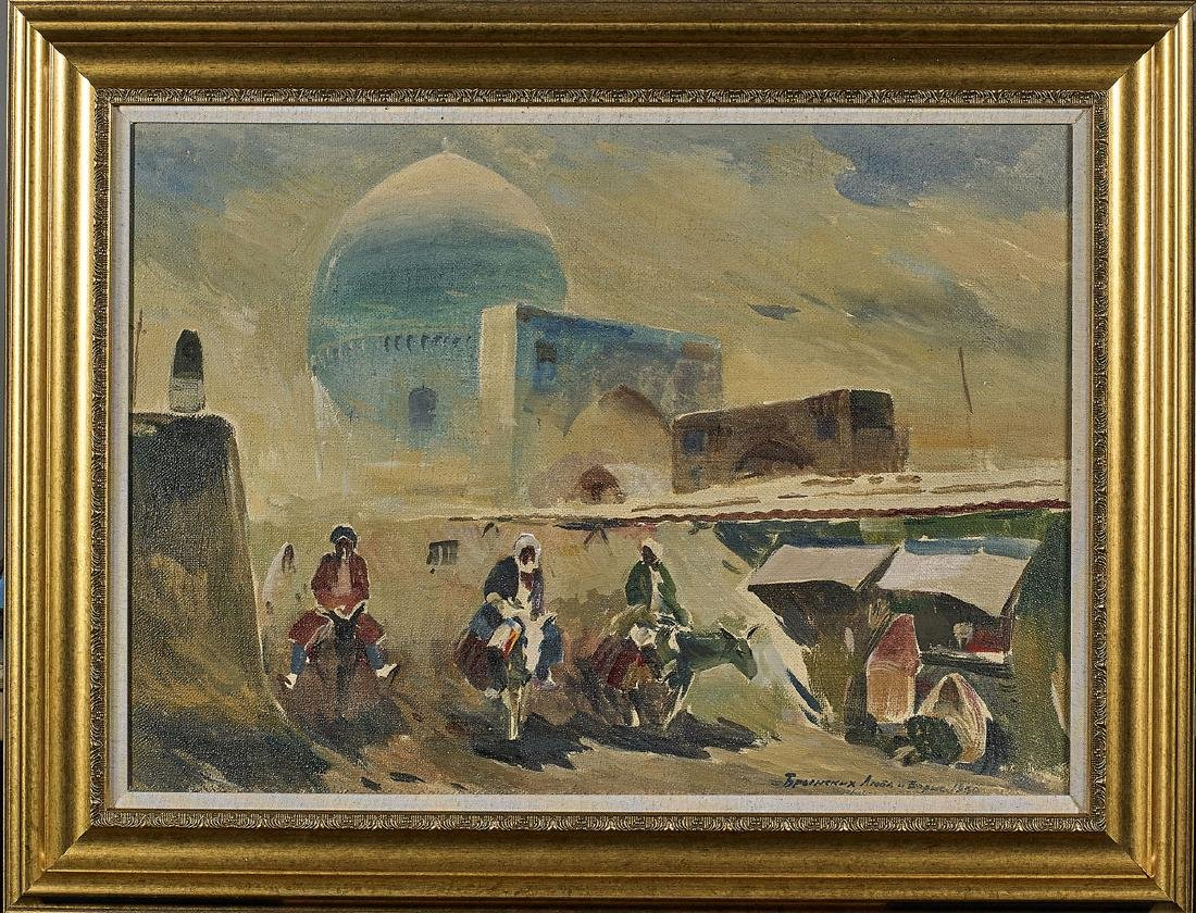 Oil Painting By Boris Aleksandrovich Brinskih