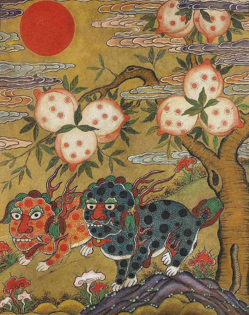 Korean Folk Painting: Haetae