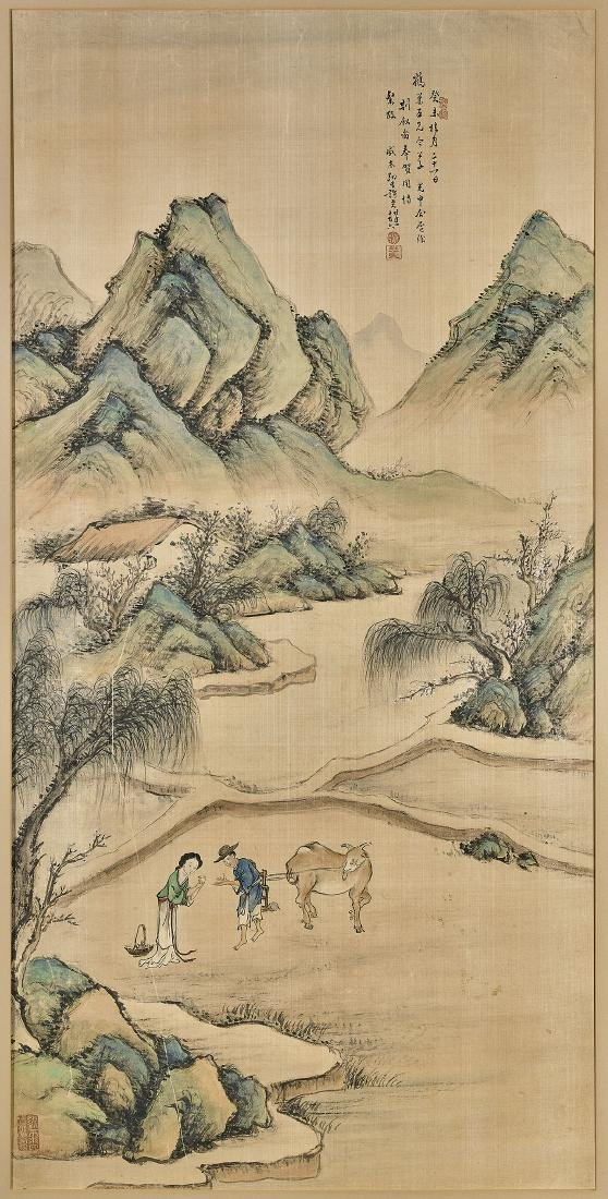 Old Chinese Painting on Silk After Xu Rao