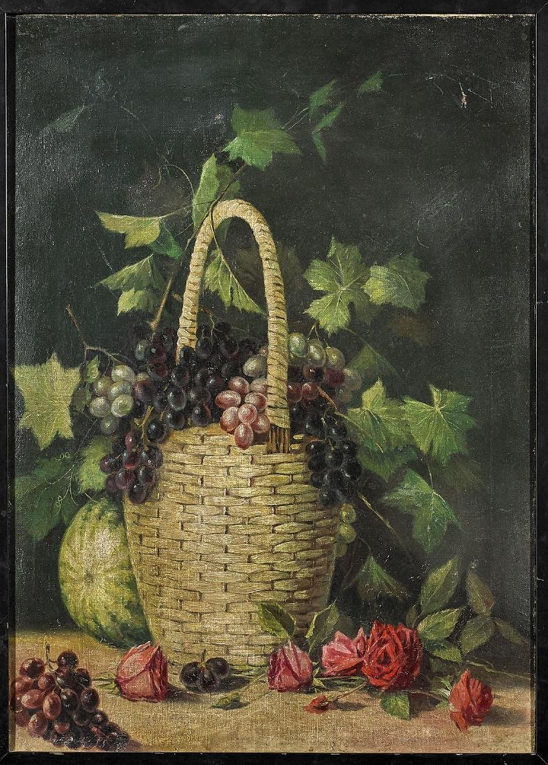Old Oil Painting on Canvas
